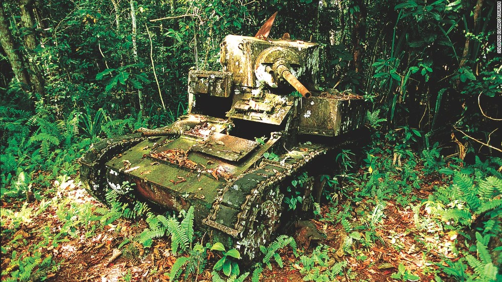 The Solomon Islands feature remnants of some of World War II's most brutal South Pacific battles.