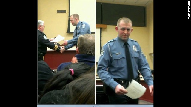 An image showing Ferguson police officer Darren Wilson taken from Facebook.