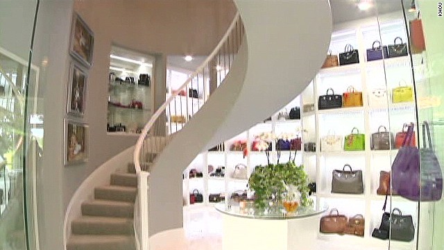 Photo Neiman Marcus The Closet Es Equip With Spiral Staircase Which Allows Roemer To Showcase Her Collection Of Shoes Furs And Hats In A