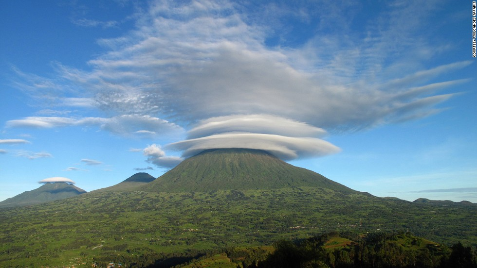 The curious cloud formations offer an interesting photo op. If you're hiking through the home of mountain gorillas in East Africa, Virunga can offer spectacular photos of the elusive endangered species.
