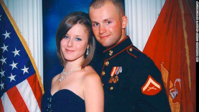Erin Corwin and her husband, Jonathan Wayne Corwin, a corporal in the U.S. Marine Corps, in an undated photo.