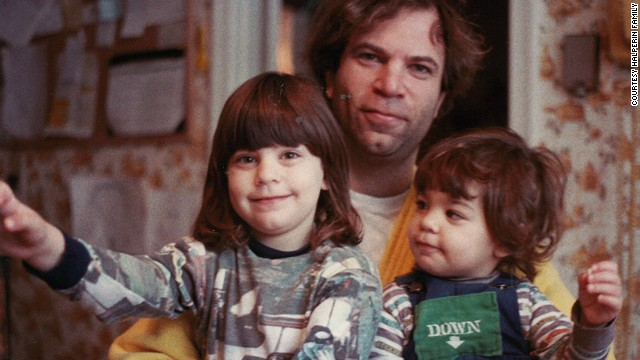 Sandy Halperin poses with his daughters Karen, left, 4, and Lauren, 2, in 1984.