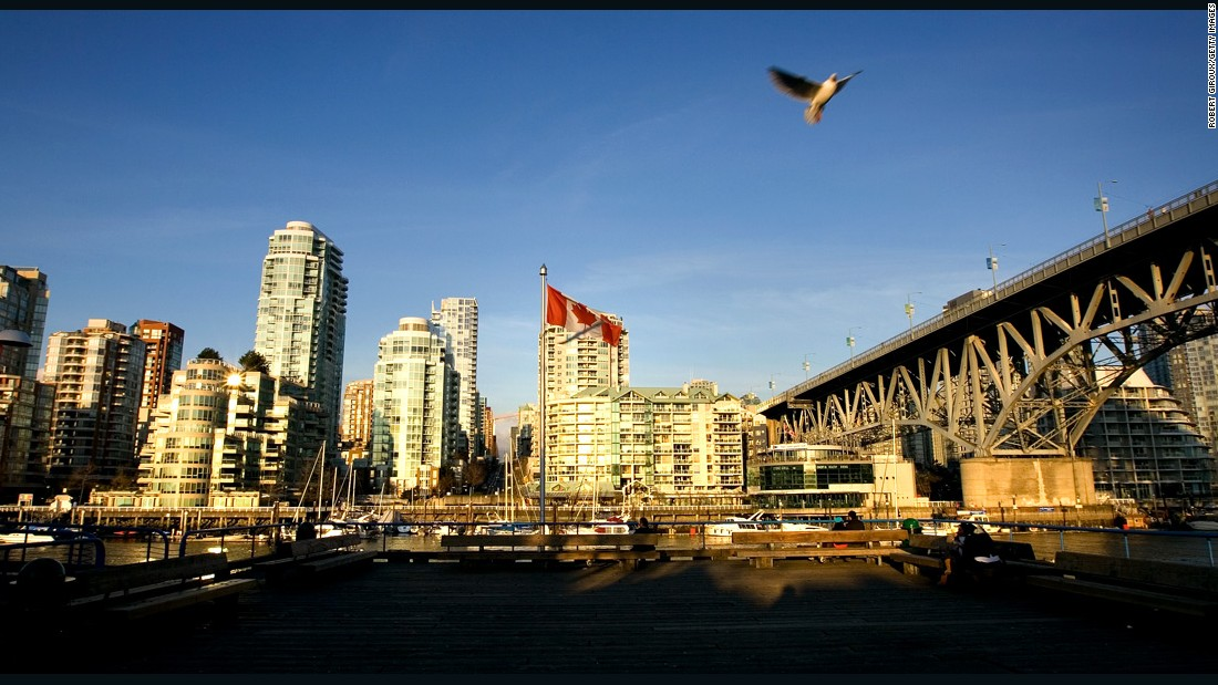 "North America's highest entry on the list is the Canadian west coast city of Vancouver. The city is among several on Mercer's list also recently named as the world's most ""<a href=""http://edition.cnn.com/2015/08/17/travel/most-liveable-city-2015/"">livable</a>"" destinations."