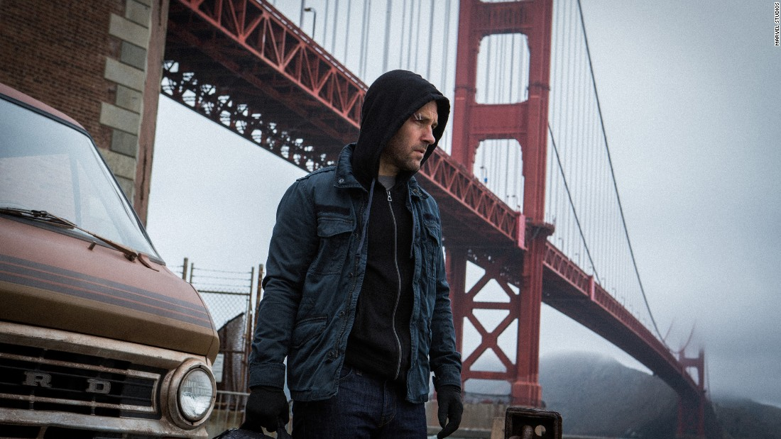 "Paul Rudd stars as ""Ant-Man,"" also known as Scott Lang, a superhero who can change his size."