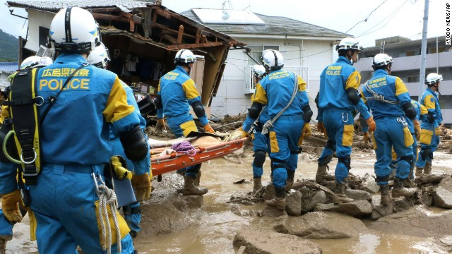 Report: Landslides kill 39 in Japan