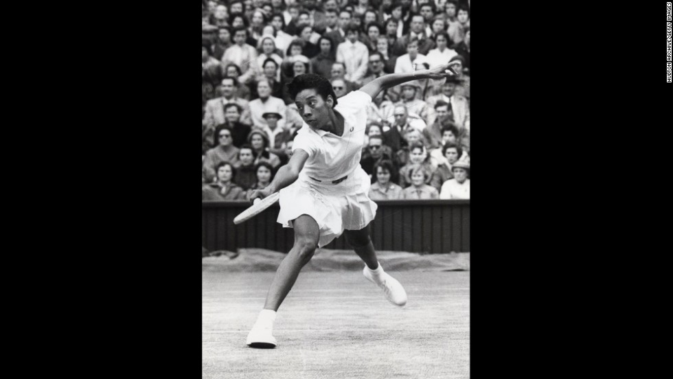 "<a href=""https://g.co/doodle/7x8w2n"" target=""_blank"">Google</a> has honored American tennis legend Althea Gibson with one of its famous <a href=""http://www.cnn.com/2014/06/04/living/google-doodles-diversity/index.html"">doodles</a> on what would have been her 87th birthday, August 25. Gibson became the first person of color to win a Grand Slam event at the French Open in 1956. She went on to win at Wimbledon and the U.S. Open."