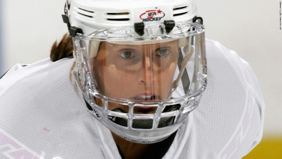 Cammi Granato (pictured) and Angela James were the first women nominated to be inducted into the Hockey Hall of Fame in 2010.