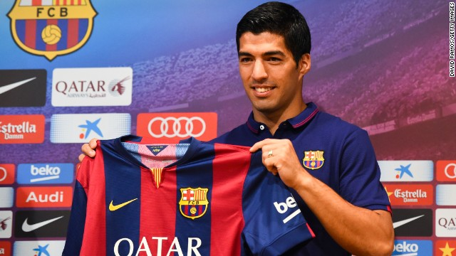 Uruguay striker Luis Suarez was officially unveiled as a Barcelona player earlier this week.