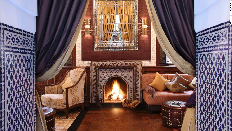 <strong>Royal Mansour (Marrakech): </strong>At Royal Mansour in Marrakech, each private riad is furnished with ornate zellij, carved stucco and painted wooden ceilings.