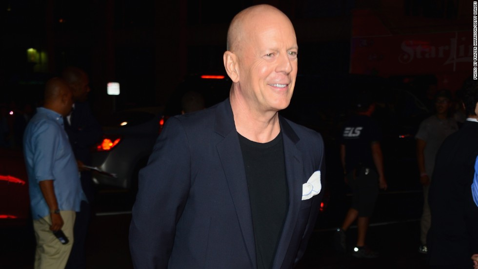 Bruce Willis attends a movie premiere on August 19 in Hollywood, California.