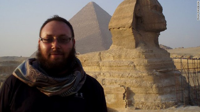 The photo, taken from Facebook, shows Steven Sotloff, an American journalist identified as one of ISIS's captives.