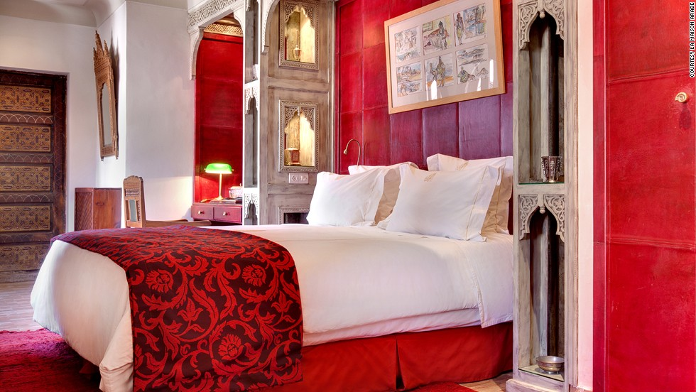 <strong>La Maison Arabe (Marrakech): </strong>Each suite at La Maison Arabe in Marrakech is uniquely furnished, like this Aladdin suite. After a three-year renovation, it opened as the city's first riad hotel in 1997.