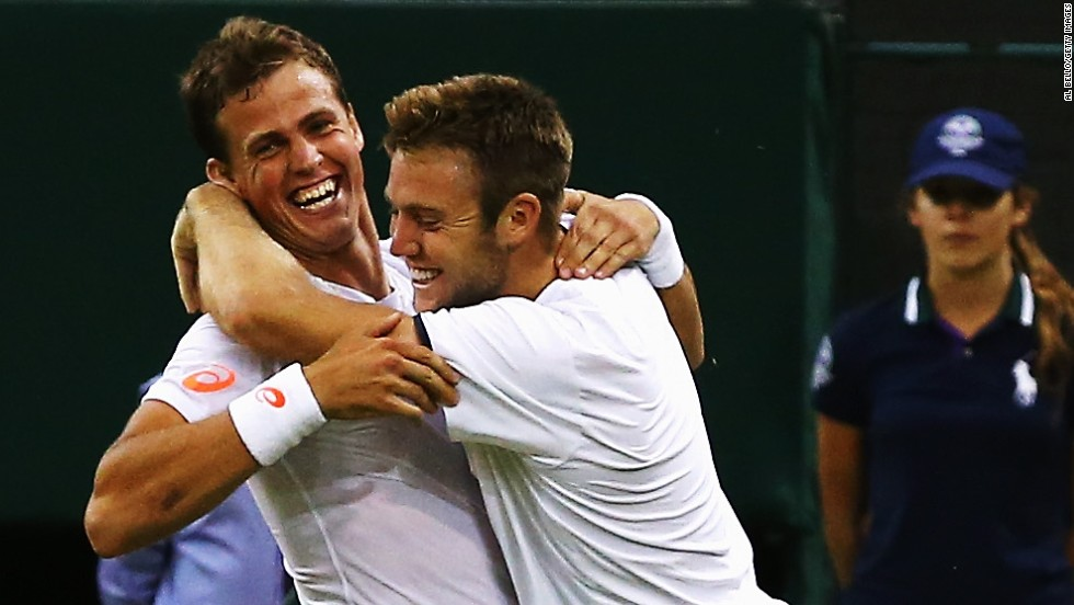 Despite disappointment for Raonic and Bouchard, there was still Canadian success at the All England Club. Vasek Pospisil, left, won the men's doubles at Wimbledon alongside his American partner, Jack Sock. They upset the all-conquering Bryan brothers in the final.