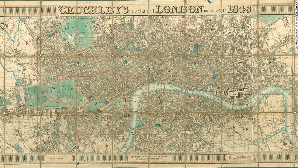 9 maps that reveal Londons secret history from Shakespeare till – Large London Map