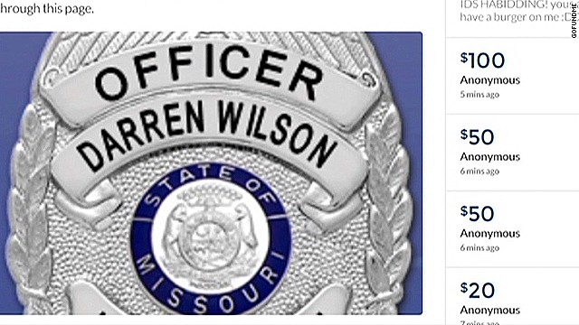 Support grows for Ferguson police officer