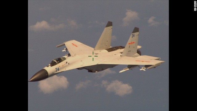 """An armed Chinese fighter jet conducted """"a dangerous intercept"""" of a US Navy P-8 Poseidon aircraft that was on a routine mission."""
