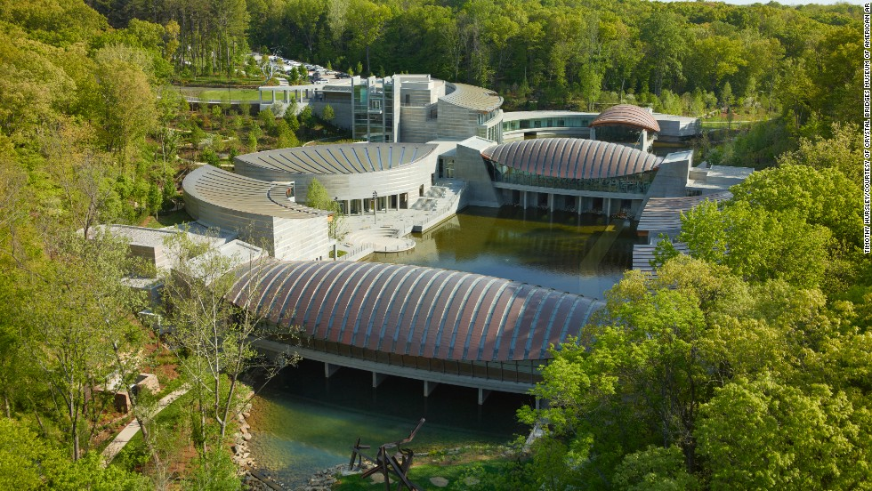Crystal Bridges Museum of American Art in Bentonville, Arkansas is the brainchild of Walmart heir Alice Walton, who has collected centuries of American art and now displays it in the same town where Sam Walton opened his first five and dime.