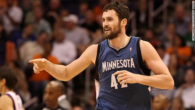 Kevin Love averaged 19.2 points and 12.2 rebounds a game with the Minnesota Timberwolves.