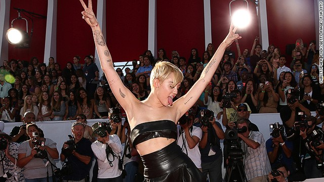 INGLEWOOD, CA - AUGUST 24:  Singer Miley Cyrus attends the 2014 MTV Video Music Awards at The Forum on August 24, 2014 in Inglewood, California.  (Photo by Christopher Polk/Getty Images for MTV)