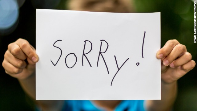 Apologizing with sincerity is hard because pride and shame often get in the way.