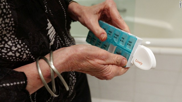 Technology like this pillbox sensor from Lively can help caretakers monitor people with Alzheimer's and dementia from afar.