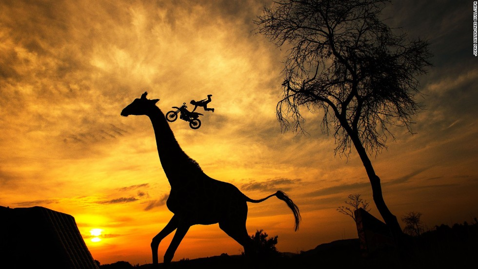 Maikel Melero of Spain warms up in the South African savannah prior to the fifth stage of the Red Bull X-Fighters World Tour on Wednesday, August 20, in Pretoria, South Africa.