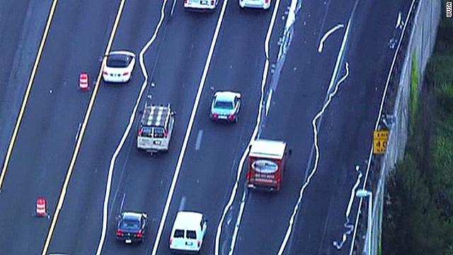 Peeled lane lines cause confusion