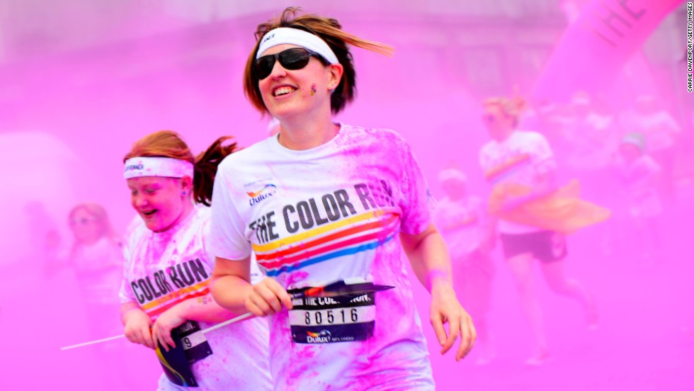 "Runners take part in the Color Run in Belfast, Northern Ireland, on Saturday, August 23. The race, billed as ""the happiest 5K on the planet,"" involves lots of colored powder and takes place in different cities worldwide throughout the year."