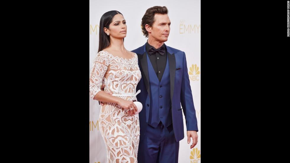"Camila Alves McConaughey and Matthew McConaughey (McConaughey, ""True Detective"")"