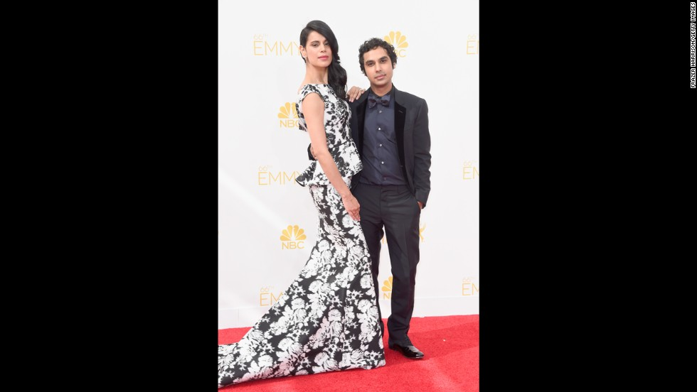 "Neha Kapur and Kunal Nayyar (Nayyar, ""The Big Bang Theory"")"