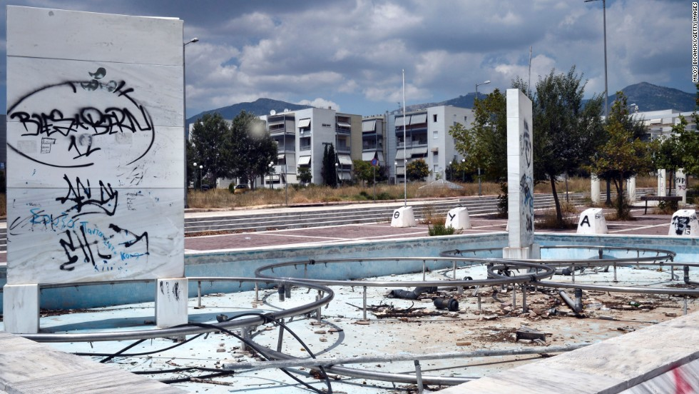 Since hosting the 2004 Olympic Games in Athens, the venues around the city have fallen into disrepair and ruin.