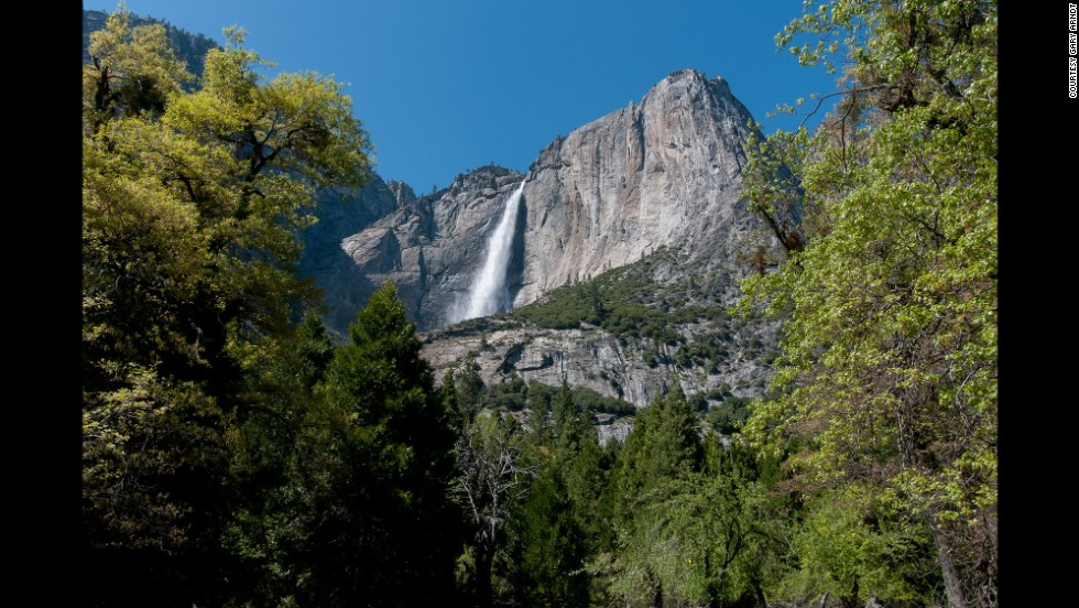 Arndt likes to visit Yosemite National Park in California in early to mid-May, avoiding the summer crowds, but still witnessing the waterfalls at their peak.