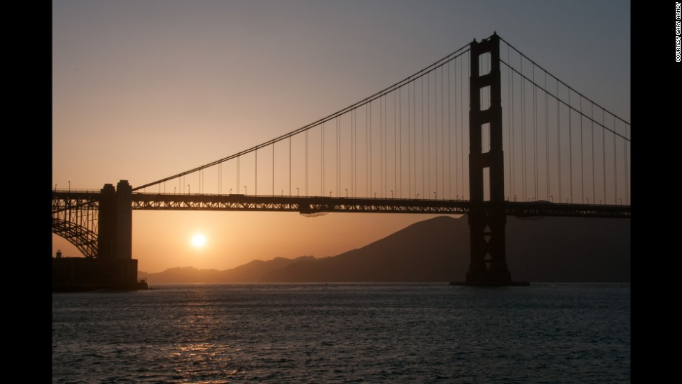 The Golden Gate Bridge, which connects the city of San Francisco with Marin County, is named after the Golden Gate Strait. The strait is the entrance to San Francisco Bay from the Pacific Ocean.