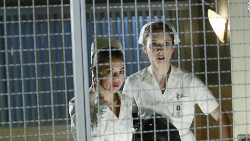 """Pretty Little Liars"" fans were ready for a death in the fifth midseason finale, but that didn't make it any easier. In the August 26 episode, one-time ""A"" Mona Vanderwaal (Janel Parrish, left) <a href=""http://www.mtv.com/news/1913683/pretty-little-liars-fatal-finale-questions/"" target=""_blank"">was killed off.</a> Or so it seemed; ""Pretty Little Liars"" is famous for also bringing people back from the presumed dead. (We're looking at you, Ali.)"