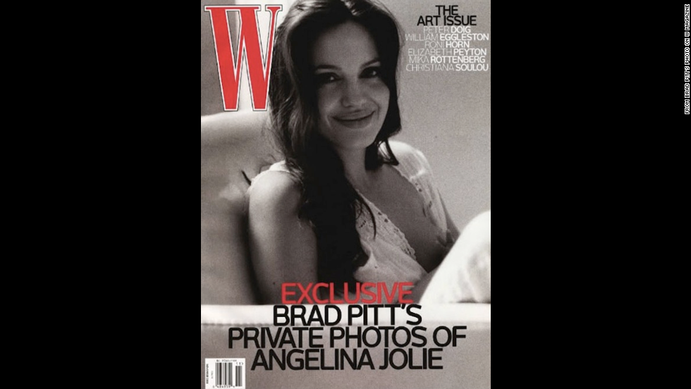 "Actor Brad Pitt took this W magazine cover photo of his partner<a href=""http://www.wmagazine.com/people/celebrities/2008/11/brad_pitt_angelina_jolie/"" target=""_blank""> Angelina Jolie</a> while she breastfed one of their twins in 2008."