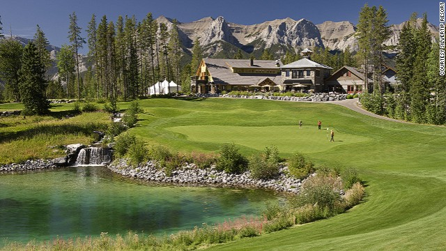 At Silvertip, you can watch, cheer and judge fellow golfers from the clubhouse.
