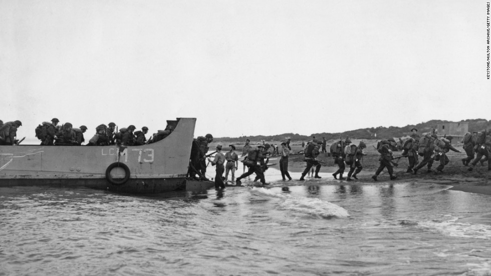 British troops land near Algiers, Algeria, during Operation Torch in November 1942. Operation Torch was the British-American invasion of Vichy-held French North Africa, and marked the first major action by the Western allies against the German army.
