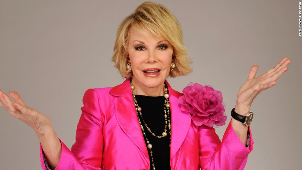 "<a href=""http://www.cnn.com/2014/09/04/showbiz/celebrity-news-gossip/joan-rivers-obit/index.html"" target=""_blank"">Joan Rivers</a>, the sassy comedian whose gossipy ""can we talk"" persona catapulted her into a career as a headlining talk-show host, best-selling author and red-carpet maven, died September 4. She was 81."