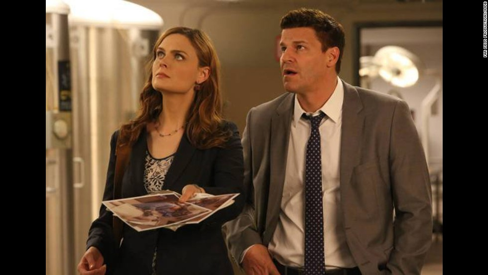 "<strong>""Bones"" Season 9</strong>: A forensic anthropologist (Emily Deschanel) teams up with an FBI agent (David Boreanaz) to solve crimes in this series. (<strong>Netflix</strong>)"