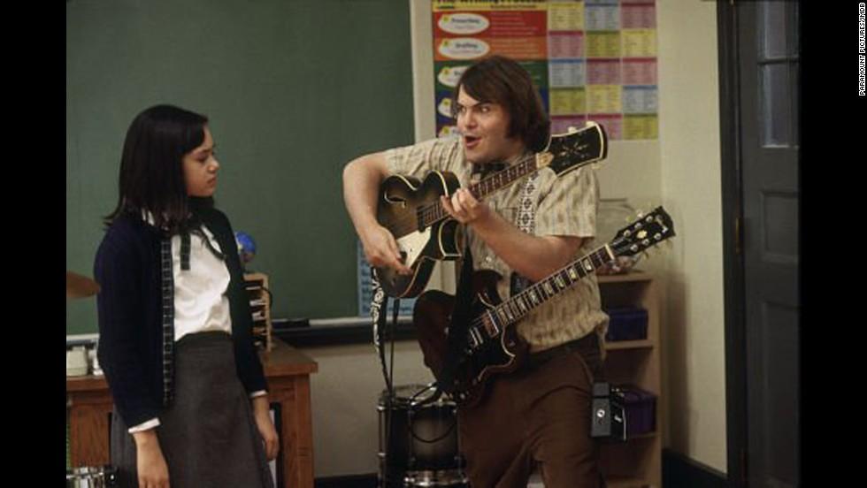 "<strong>""School of Rock"" (2003)</strong>: The lovable Jack Black plays an out of work musician who snags a job as an elementary school substitute teacher. He teaches his students about the most important subject there is: rock 'n' roll.  (<strong>Netflix</strong>)"