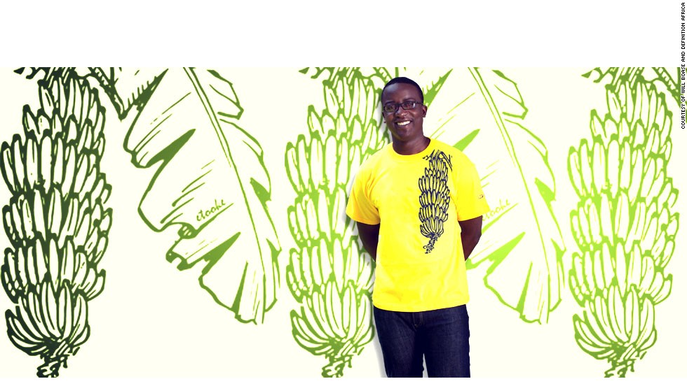 A picture of a matooke, a staple food in central and south western Uganda is featured on this t-shirt as part of the company's <em>In Your Face</em> series.