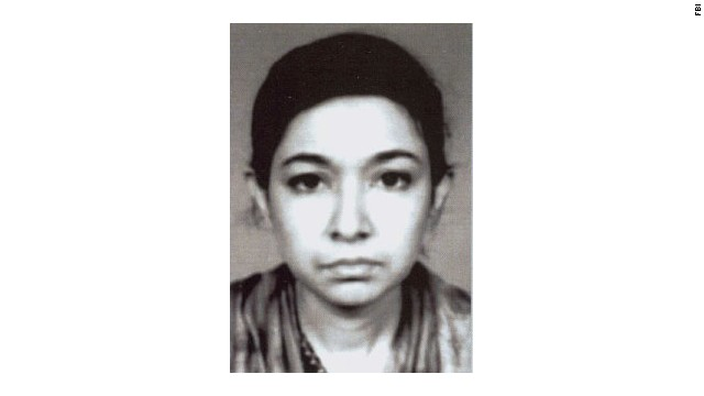 FBI photo of Aafia Siddiqui