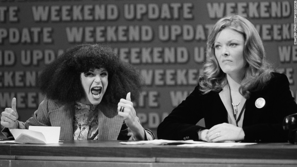 "In 1975, ""Saturday Night Live"" debuted and introduced viewers to history-making comedians like Gilda Radner, left, and Jane Curtin, who were part of the original ""SNL"" cast. The duo put in place some of the most iconic sketches to date, from the coneheads to Baba Wawa. Post-""SNL,"" both were poised for screen success, but Radner's career was cut short by her death in 1986. Curtin went on to star in sitcoms like ""Kate & Allie"" and ""3rd Rock From The Sun."""