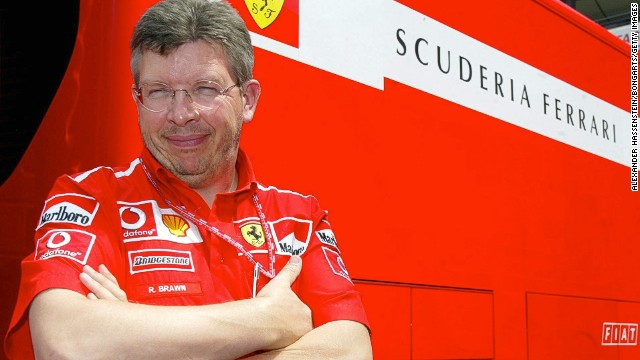 NUERBURGRING, GERMANY - JUNE 27: GP von Europa 2003, Nuerburgring; Technischer Direktor Ross BRAWN - Ferrari - (Photo by Alexander Hassenstein/Bongarts/Getty Images)