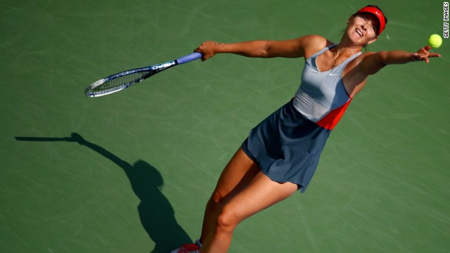 Maria Sharapova, the 2006 champion, was knocked out of the U.S .Open Sunday.