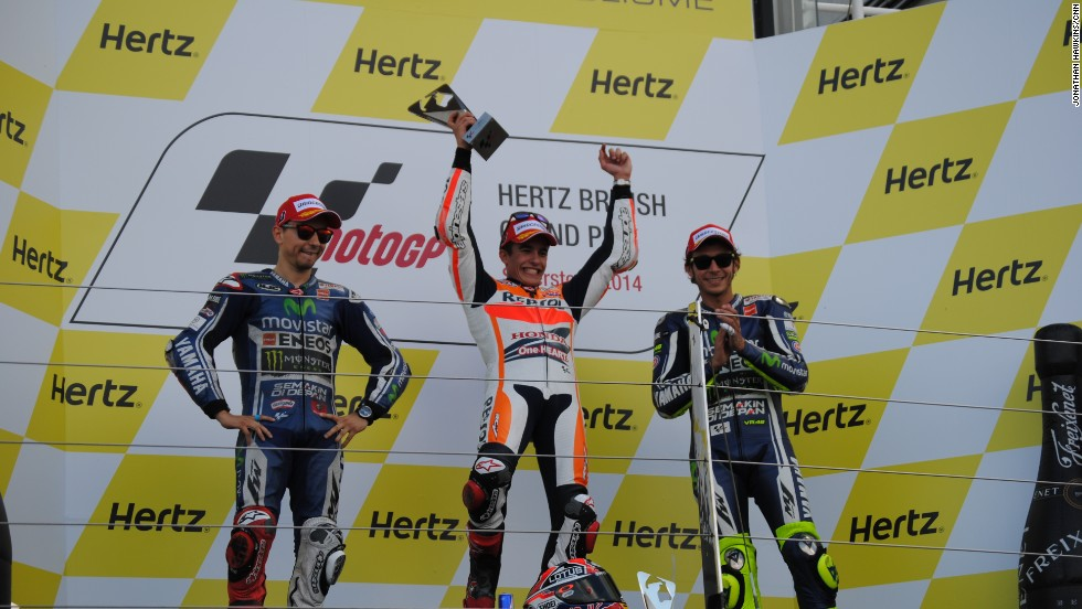 Repsol Honda's record-breaking rider Marquez claimed his 11th Grand Prix win on Sunday at Silverstone at British leg of the MotoGP season in a scintillating race that saw the Spaniard overtake Movistar Yahama's Jorge Lorenzo three laps from the end.
