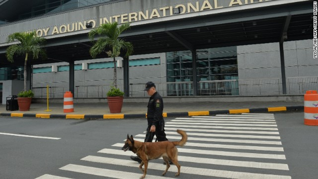 Manila's Ninoy Aquino International Airport has been placed on full alert, state-run media report.
