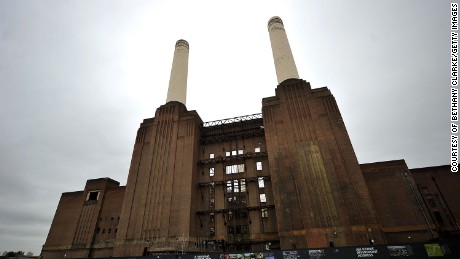 "Battersea Power Station provides the opening backdrop for ""Sabotage."""