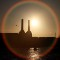 battersea power station sunset