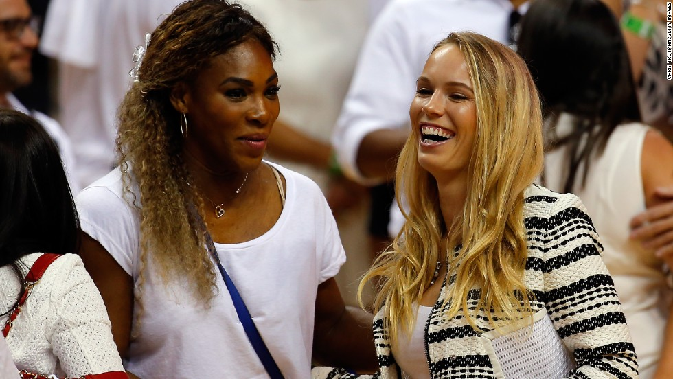 Williams and Wozniacki hung out together in Miami after the American, too, lost early at the French Open.